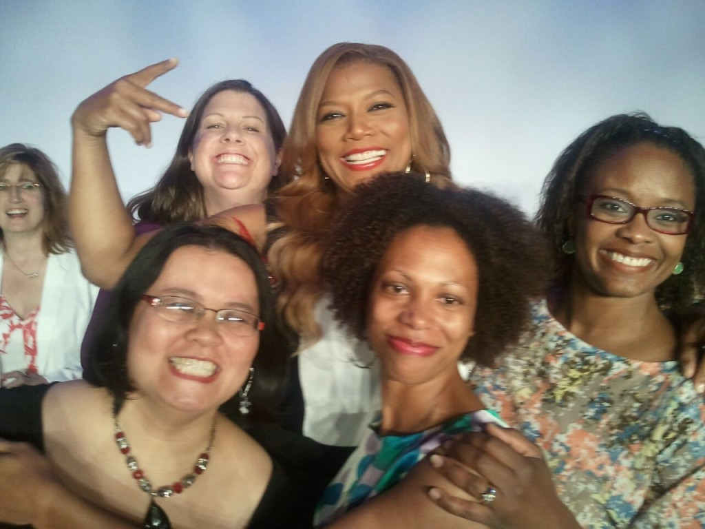Queen Latifah, me, and other VOTY honorees past and present.