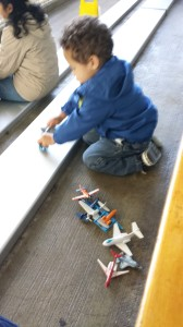 Our Terrabird with his planes. He may look sweet, but looks can be deceiving.