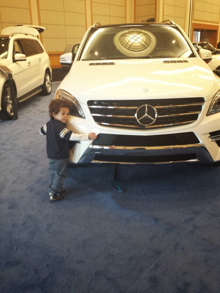 He's not the only one who loves this Mercedes.