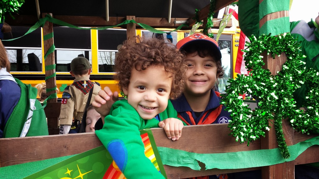 My leprechauns on the float.