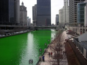 The city has died its river green for more than 40 years.