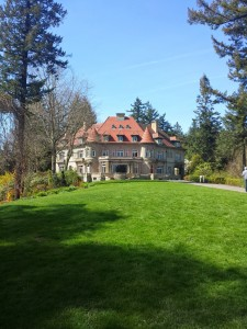 The Pittock Mansion, a Renaissance-style home built in 1914 for Portland's newspaper publisher and family.