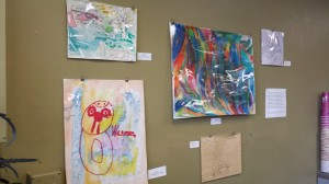 Works by artists from the Full Life Center in Portland.