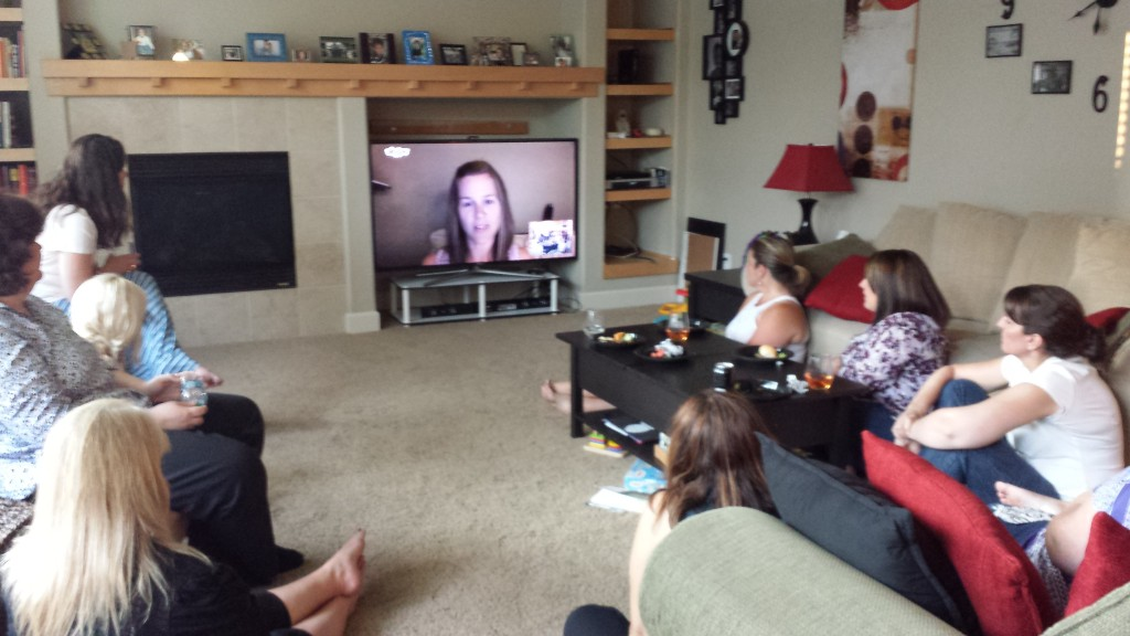 Our book club Skypes with author Jessica Null Vealitzek about her new novel.