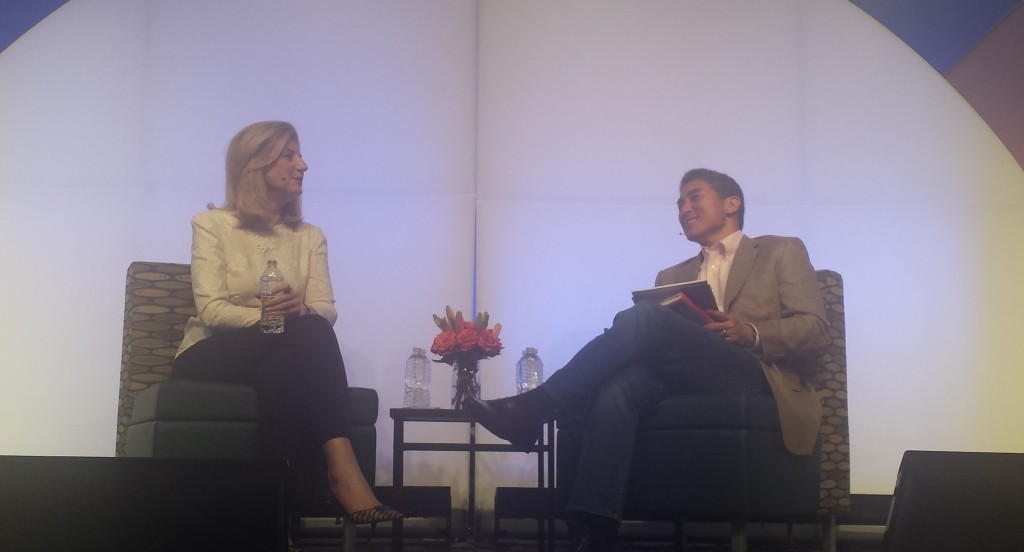 Arianna Huffington of The Huffington Post and Guy Kawasaki, an early Apple executive.