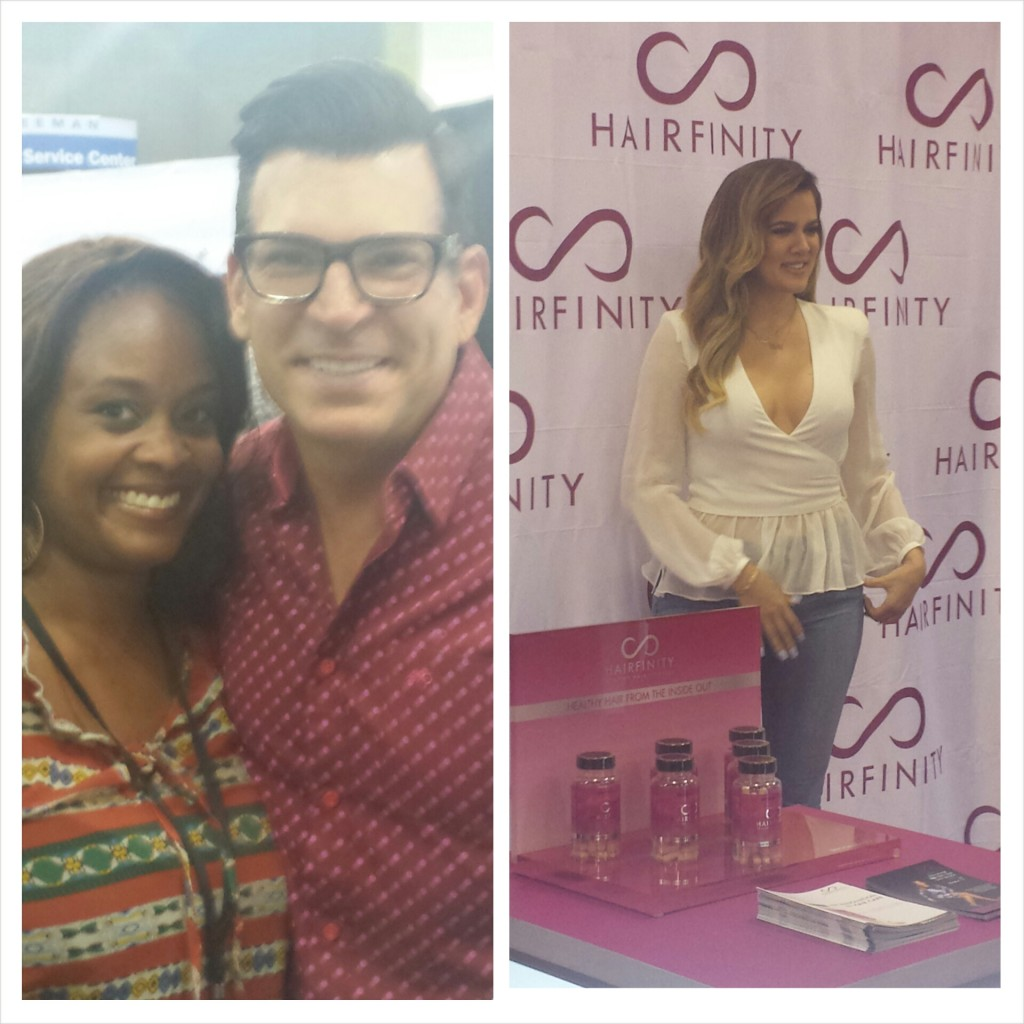 Me and David Tutera, wedding planner extraordinaire. Khloe Kardashian waiting for pictures with her fans.