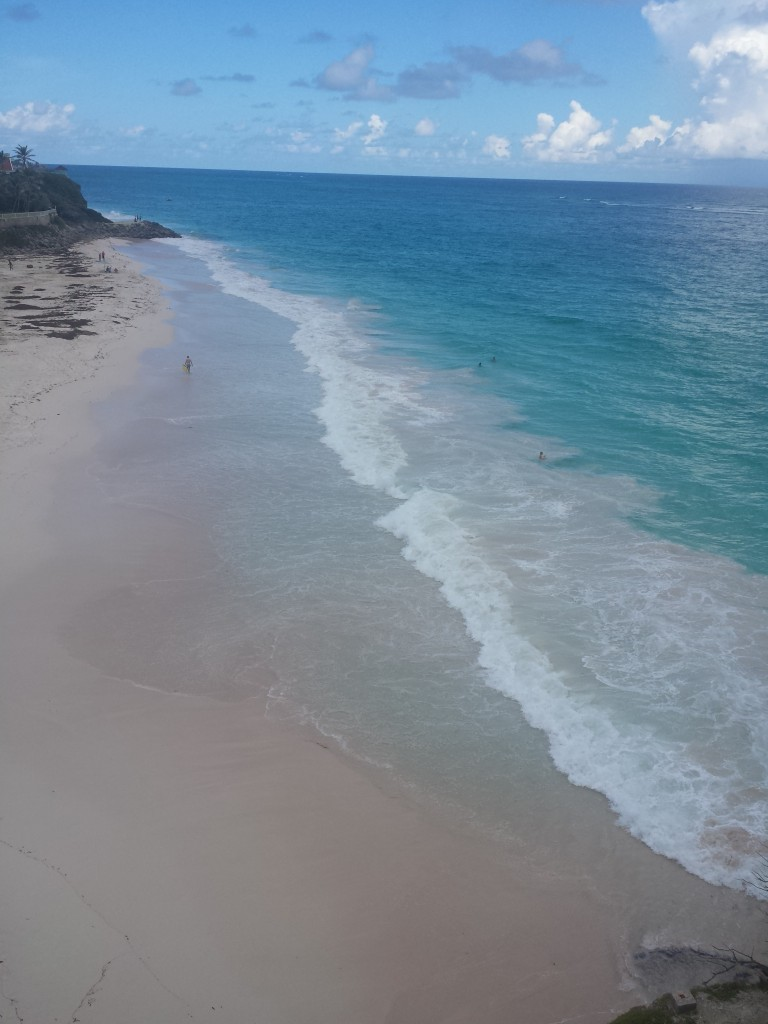 The Crane resort's private section of the beach in Barbados.