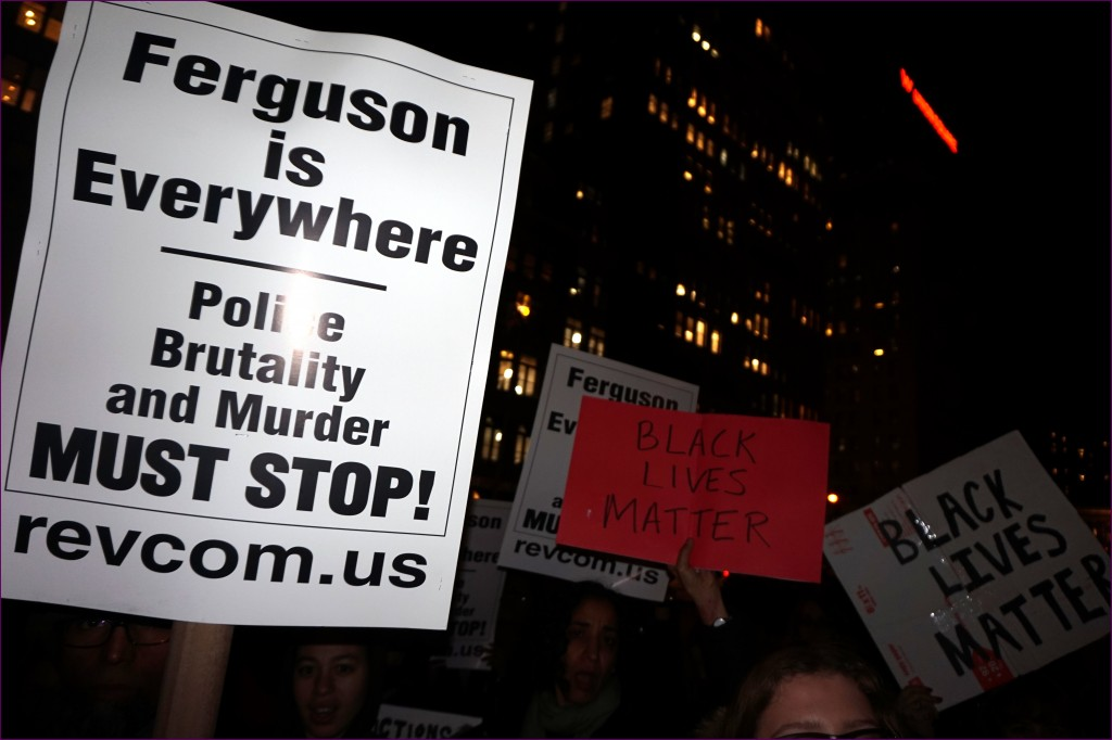 Protests in New York City after the grand jury decided not to issue an indictment in Eric Garner's death. By Otto Yamamoto.