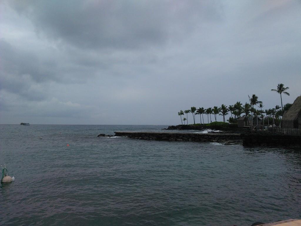 From a pier in Kona, Hawaii.
