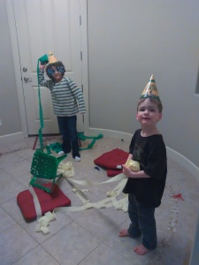 The kids (big and small) loved all the NYE fixings from Netflix.