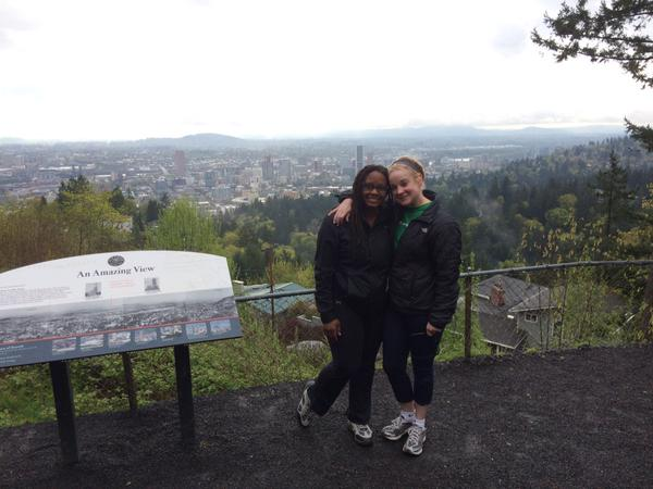 Wendi and I after our hike up to Pittock Manson.