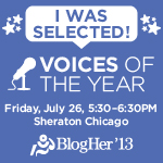 BlogHer '13 Voices of the Year Community Keynote Honoree