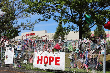 The Wall of Hope in Beaverton for Kyron Horman.