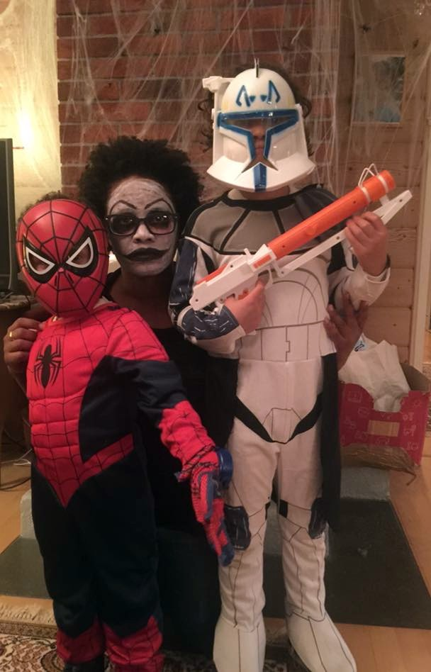 Spiderman,  deadmom5, and Captain Rex.