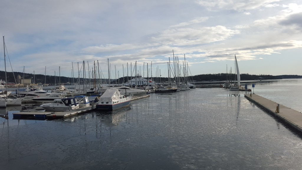 Boats in the Oslo fjord.